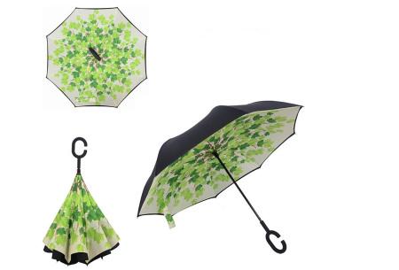 Omkeerbare paraplu | Met deze stormparaplu ben je altijd voorbereid op de regen! F