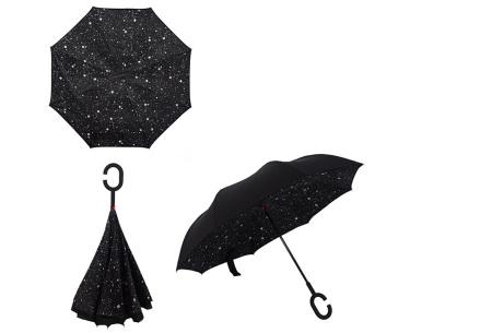 Omkeerbare paraplu | Met deze stormparaplu ben je altijd voorbereid op de regen! A