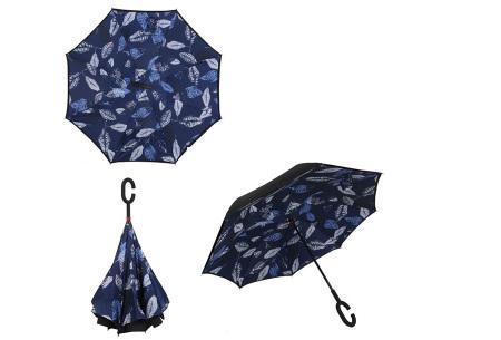 Omkeerbare paraplu | Met deze stormparaplu ben je altijd voorbereid op de regen! G