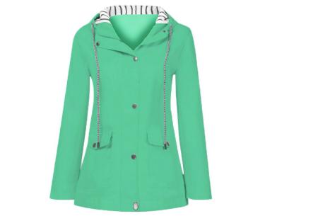 Gekleurde dames regenjas | Bescherm jezelf op een fashionable manier tegen de regen - in 10 kleuren Groen