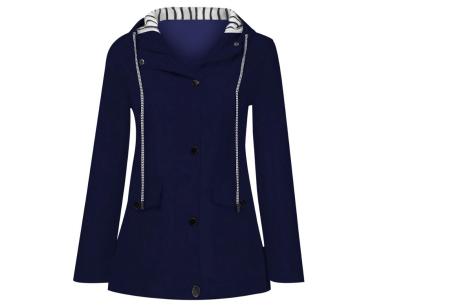 Gekleurde dames regenjas | Bescherm jezelf op een fashionable manier tegen de regen - in 10 kleuren Donkerblauw