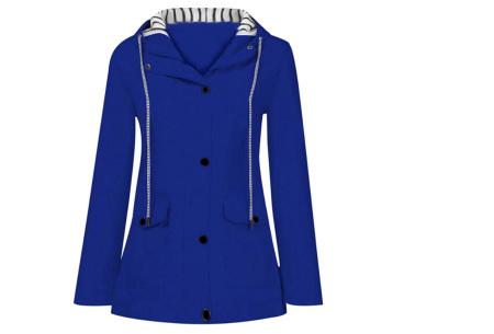 Gekleurde dames regenjas | Bescherm jezelf op een fashionable manier tegen de regen - in 10 kleuren Kobaltblauw