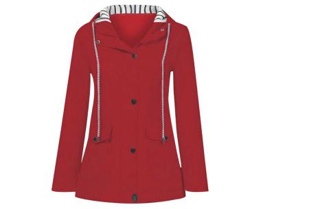 Gekleurde dames regenjas | Bescherm jezelf op een fashionable manier tegen de regen - in 10 kleuren Rood