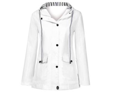 Gekleurde dames regenjas | Bescherm jezelf op een fashionable manier tegen de regen - in 10 kleuren Wit