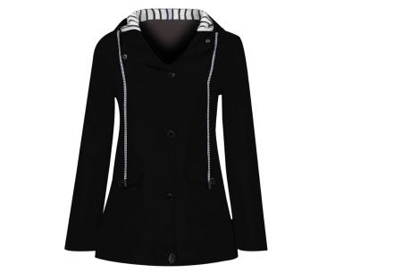 Gekleurde dames regenjas | Bescherm jezelf op een fashionable manier tegen de regen - in 10 kleuren Zwart
