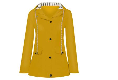 Gekleurde dames regenjas | Bescherm jezelf op een fashionable manier tegen de regen - in 10 kleuren Geel