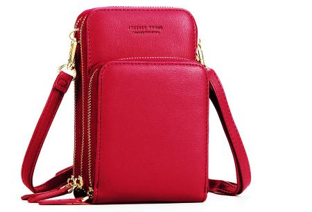 Compact telefoontasje | De ideale tas voor je telefoon, brief- en muntgeld, pasjes en meer Rood