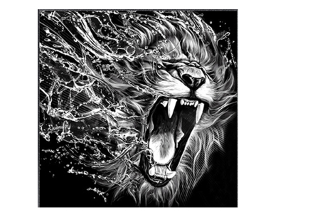 Diamond painting zwart-wit schilderij - in diverse katachtigen | Ontspannen knutselen met deze creatieve bezigheid! #5