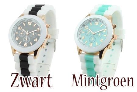 Mint Green Color horloge t.w.v. €39,95 nu GRATIS -