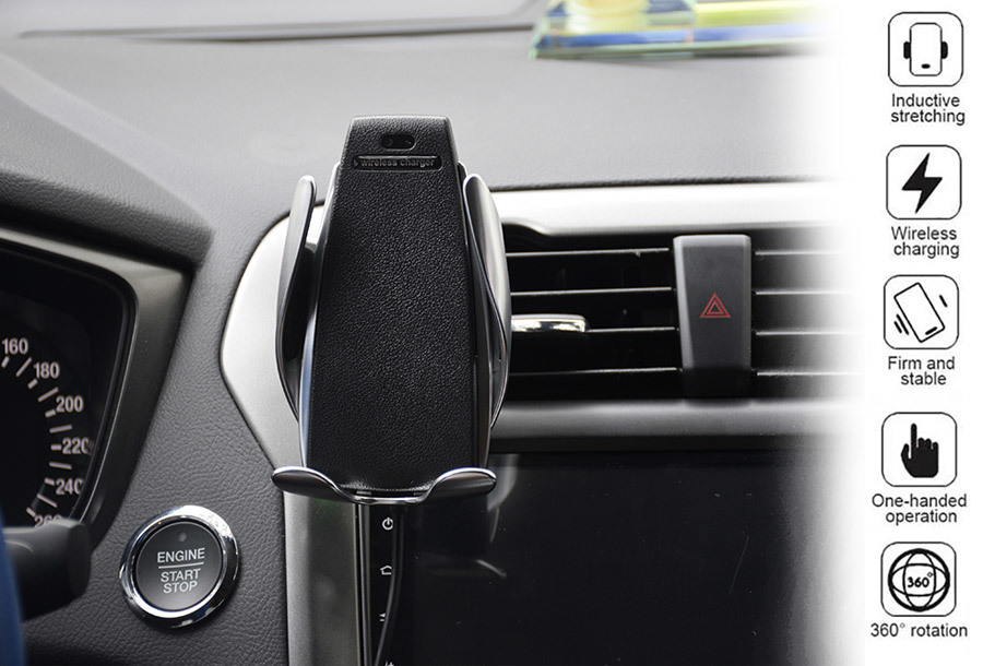 Draadloze auto telefoonlader en -houder - SALE