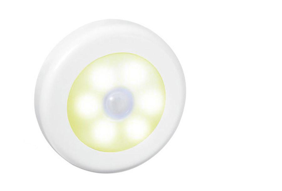 Draadloos (nacht)lampje met bewegingssensor 4 x zilver - warm wit