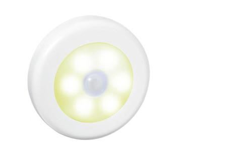Draadloos (nacht)lampje met bewegingssensor | Keuze uit één losse of een set van 2, 4, 6 of 8 stuks Wit - warm wit