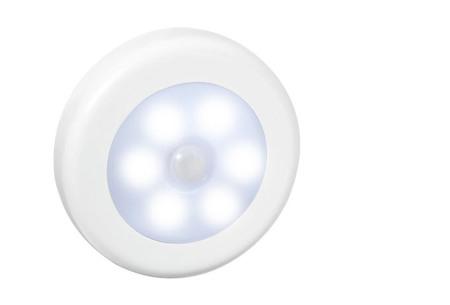 Draadloos (nacht)lampje met bewegingssensor | Keuze uit één losse of een set van 2, 4, 6 of 8 stuks Wit - wit