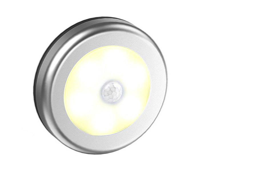 Draadloos (nacht)lampje met bewegingssensor 2 x zilver - warm wit