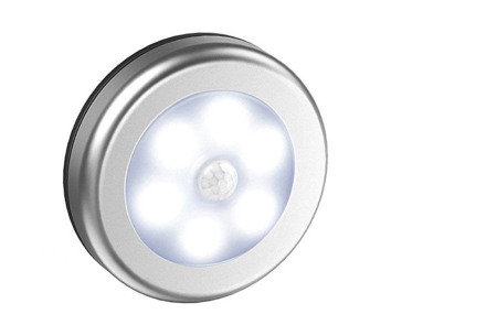 Draadloos (nacht)lampje met bewegingssensor | Keuze uit één losse of een set van 2, 4, 6 of 8 stuks Zilver - wit