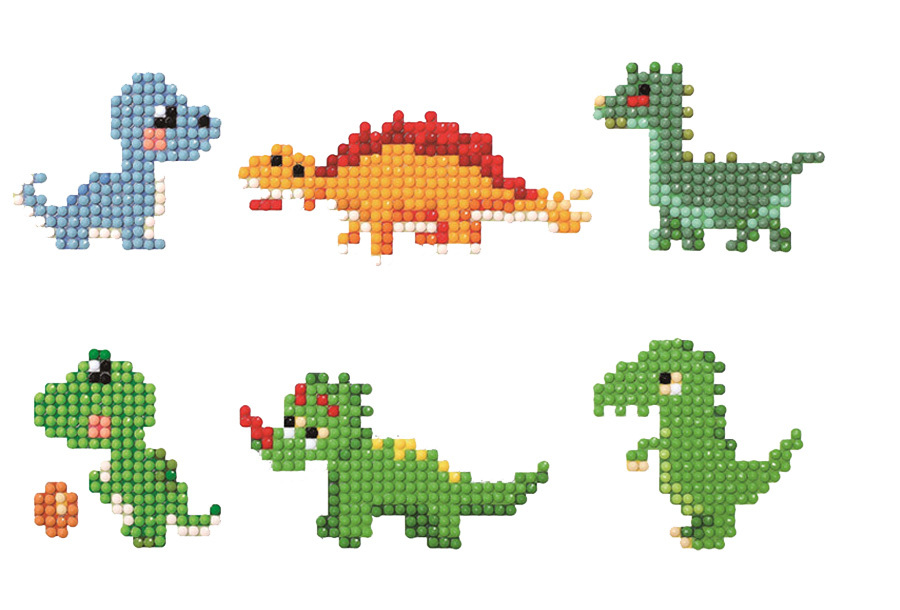 Diamond painting stickers C -Dino's
