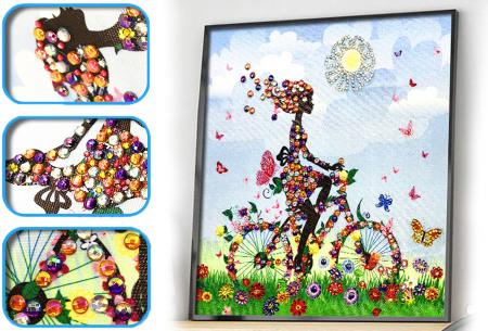 Diamond painting schilderij | Half schilderij, halve Diamond painting voor een bijzonder 3D effect! #10