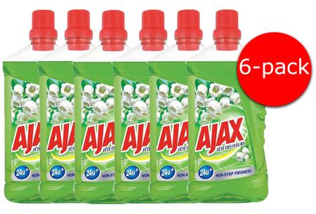 Voordeelverpakking Ajax allesreiniger & glaswipes | Maakt jouw meubilair, ramen en vloeren weer blinkend schoon!