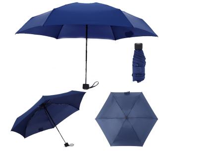 Opvouwbare mini paraplu | Handige pocket size paraplu om overal mee naar toe te nemen! Donkerblauw