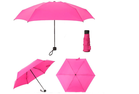 Opvouwbare mini paraplu | Handige pocket size paraplu om overal mee naar toe te nemen! Fuchsia