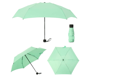 Opvouwbare mini paraplu | Handige pocket size paraplu om overal mee naar toe te nemen! Mint