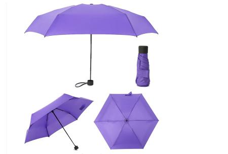 Opvouwbare mini paraplu | Handige pocket size paraplu om overal mee naar toe te nemen! Paars