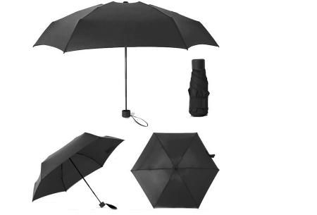 Opvouwbare mini paraplu | Handige pocket size paraplu om overal mee naar toe te nemen! Zwart