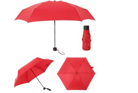 Opvouwbare mini paraplu | Handige pocket size paraplu om overal mee naar toe te nemen! Rood