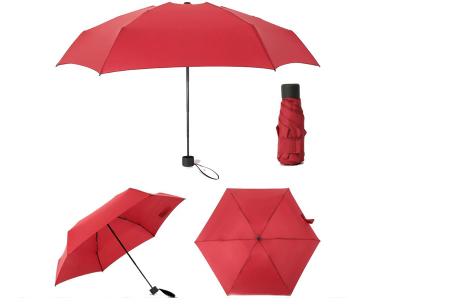 Opvouwbare mini paraplu | Handige pocket size paraplu om overal mee naar toe te nemen! Wijnrood