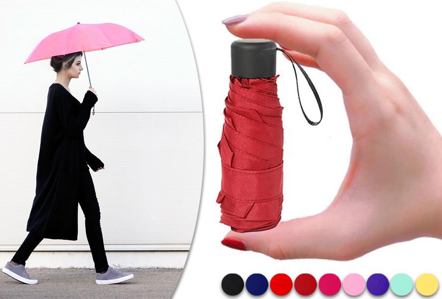 Opvouwbare mini paraplu met 50% korting