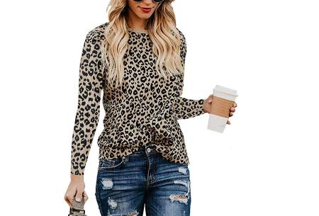 Sweater met print | Dames shirt met lange mouwen met o.a. tijger- , leger- of panterprint! #A