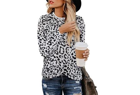 Sweater met print | Dames shirt met lange mouwen met o.a. tijger- , leger- of panterprint! #B