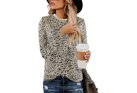 Sweater met print | Dames shirt met lange mouwen met o.a. tijger- , leger- of panterprint! #D