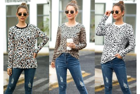 Sweater met print | Dames shirt met lange mouwen met o.a. tijger- , leger- of panterprint!
