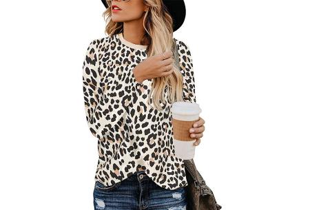 Sweater met print | Dames shirt met lange mouwen met o.a. tijger- , leger- of panterprint! #F
