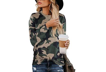 Sweater met print | Dames shirt met lange mouwen met o.a. tijger- , leger- of panterprint! #G
