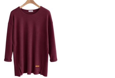 Soft sweater | Musthave basic trui voor dames in maar liefst 6 kleuren  wijnrood