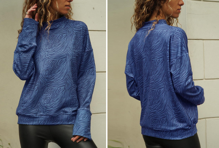 Zebra sweater   De perfecte trui voor de herfst, winter en het voorjaar - in 4 kleuren Blauw