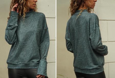 Zebra sweater   De perfecte trui voor de herfst, winter en het voorjaar - in 4 kleuren Groen