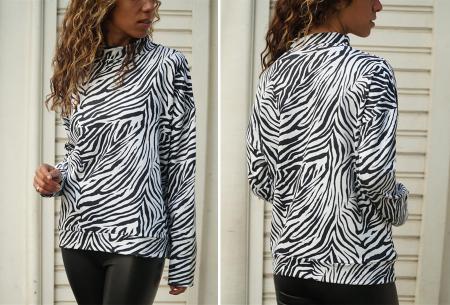Zebra sweater   De perfecte trui voor de herfst, winter en het voorjaar - in 4 kleuren Wit