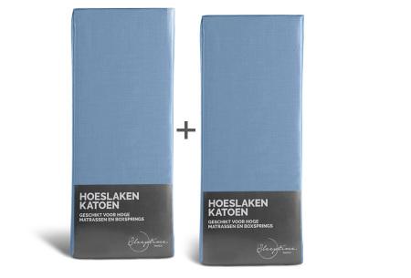 Katoenen hoeslakens van Swiss nights | In diverse maten & kleuren, nu 1 + 1 gratis! Blauw