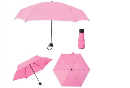 Opvouwbare mini paraplu | Handige pocket size paraplu om overal mee naar toe te nemen! lichtroze