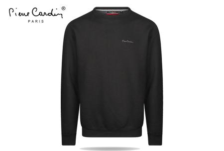 Pierre Cardin sweater | Comfortabele heren sweater van topkwaliteit Zwart