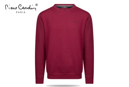 Pierre Cardin sweater | Comfortabele heren sweater van topkwaliteit Wijnrood