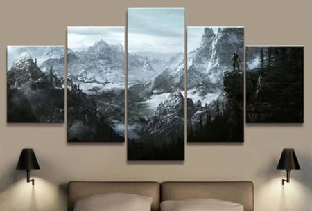5-luik Diamond painting | Creëer je eigen kunstwerk voor aan de muur! Bergen