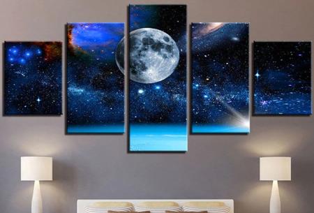 5-luik Diamond painting | Creëer je eigen kunstwerk voor aan de muur! Maan