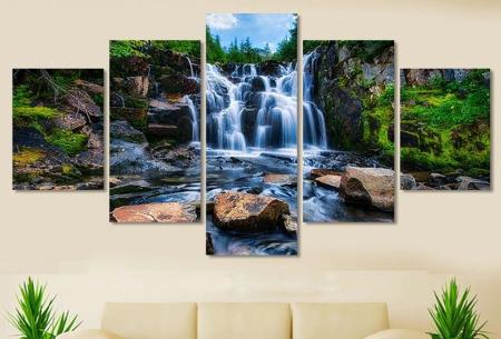 5-luik Diamond painting | Creëer je eigen kunstwerk voor aan de muur! Natuur