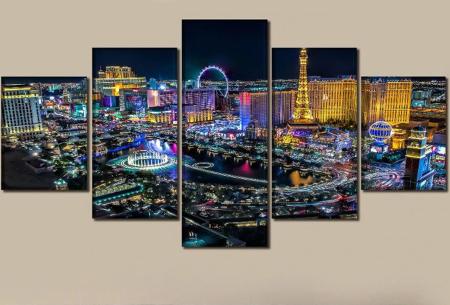 5-luik Diamond painting | Creëer je eigen kunstwerk voor aan de muur! Vegas