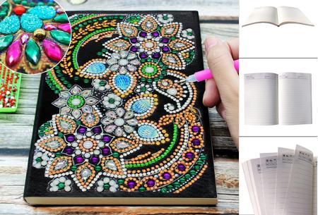 Diamond painting notitieboekje in de aanbieding
