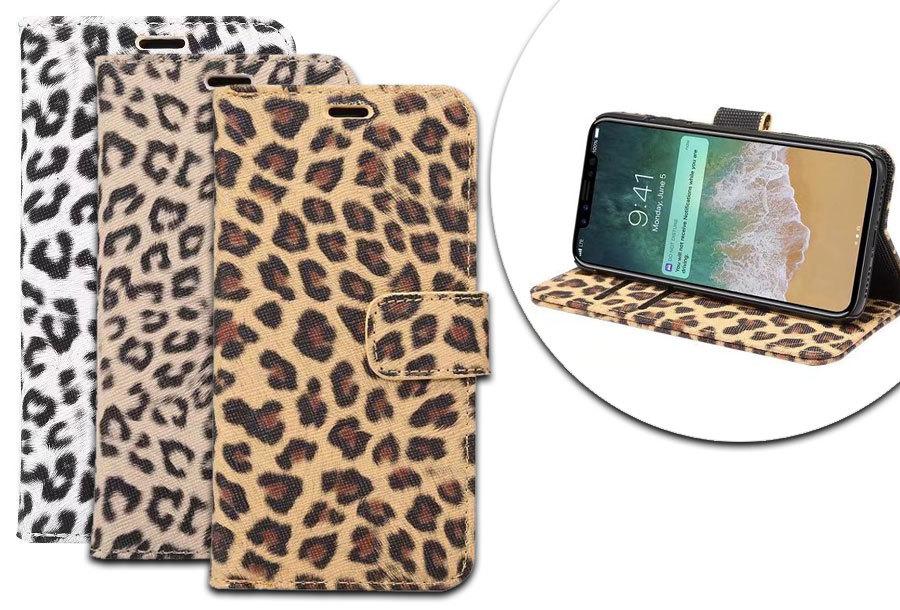 Luipaardprint telefoonhoesje nu in de aanbieding